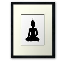 Simple Buddha Framed Print