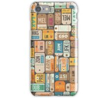 Luggage Tags Retro iPhone Case/Skin