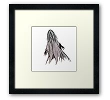 Ghost pencil drawing Framed Print