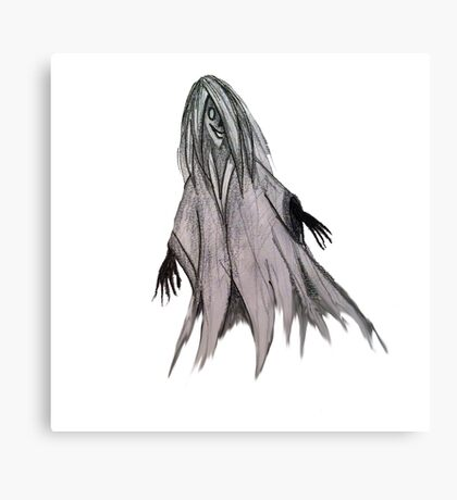 Ghost pencil drawing Canvas Print