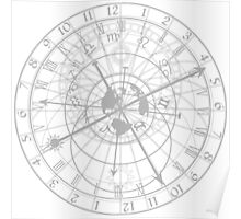 astronomical clock with zodiac signs Poster