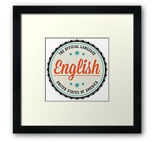 USA Official Language Framed Print