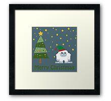 Merry Christmas Yeti Framed Print