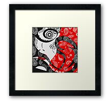 The Paisley Woman (Red) Framed Print