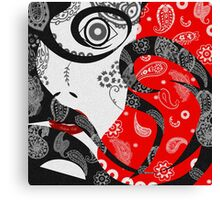 The Paisley Woman (Red) Canvas Print