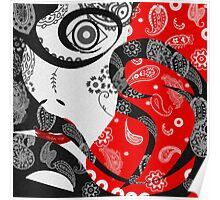 The Paisley Woman (Red) Poster