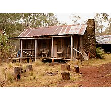 The Blue Chair Hut Photographic Print