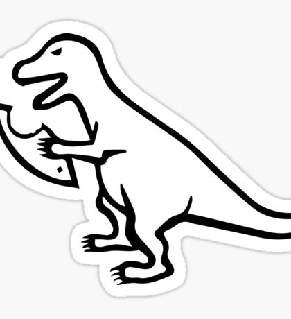 Religion VS T-Rex Sticker
