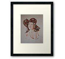 Lady in the Light  Framed Print