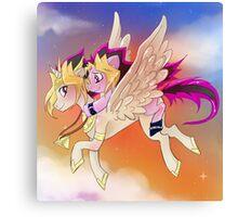 Yu-Gi-Oh!+My little pony sunset Canvas Print