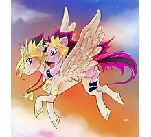 Yu-Gi-Oh!+My little pony sunset Photographic Print