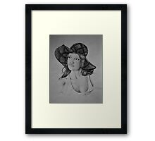 Lady in the Light - Black & White Framed Print