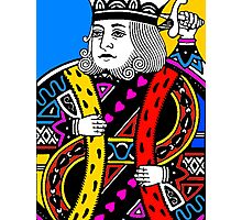 KING OF HEARTS-COLOURS Photographic Print