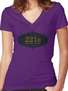 221B Baker St Women's Fitted V-Neck T-Shirt