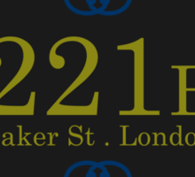221B Baker St Sticker