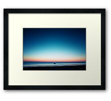 Fisher at peaceful sunrise Framed Print