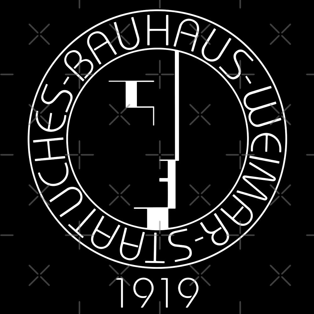 bauhaus art school logo 1919 by createdezign redbubble. Black Bedroom Furniture Sets. Home Design Ideas