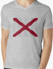 Alabama flag Mens V-Neck T-Shirt