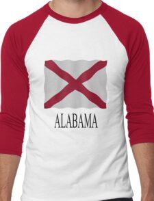 Alabama flag Men's Baseball ¾ T-Shirt