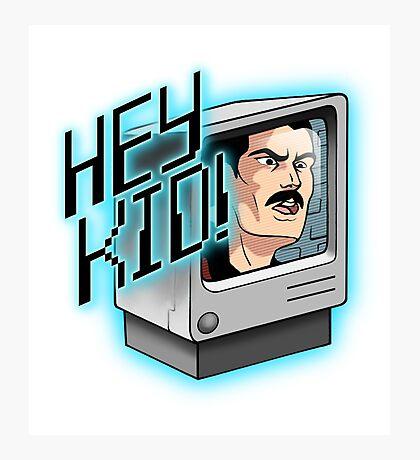 HEY KID! I'M A COMPUTER! Photographic Print