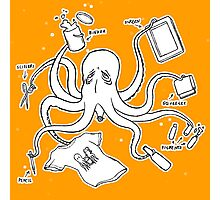 Screen Print Octopus Photographic Print