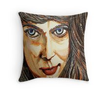 Norica With Crooked Nose Throw Pillow