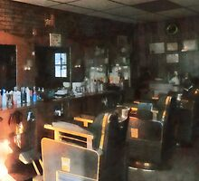 Barber Shop With Sun Shining Through Window by Susan Savad