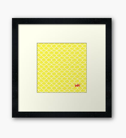 Fish scales yellow Framed Print