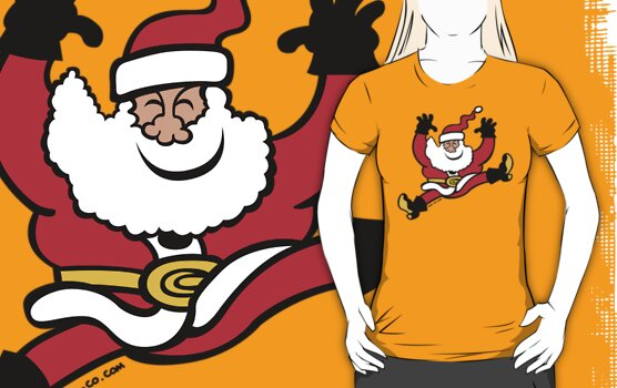 Santa Claus Jumping out of Joy by Zoo-co