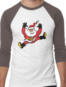 Santa Claus Jumping out of Joy Men's Baseball ¾ T-Shirt