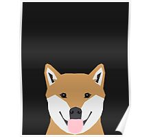 Indiana - Shiba Inu gift design for dog lovers and dog people Poster