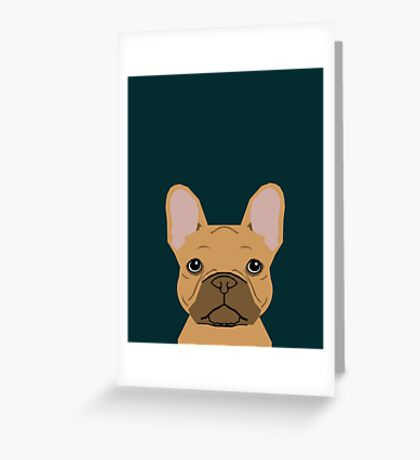 Willow - French Bulldog phone case art design for dog lovers and dog people Greeting Card