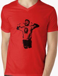 Che wearing Che Mens V-Neck T-Shirt