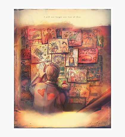 I Will Not Forget One Line of This - Doctor Who Photographic Print