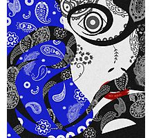 The Paisley Woman (blue) Photographic Print