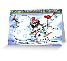 Schnauzer Snow Day Greeting Card