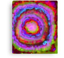 geode rainbow Canvas Print