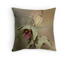 Purpurea Fritillaria Throw Pillow