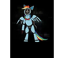My Little Pony - MLP - FNAF - Rainbow Dash Animatronic Photographic Print