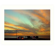 Sunset Over Old Tampa Bay Art Print