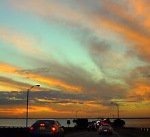Sunset Over Old Tampa Bay by AuntDot