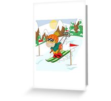 Winter Sports: Skiing Greeting Card