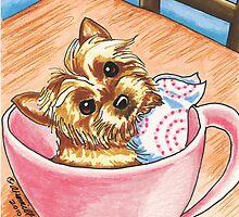 Teacup Yorkie by offleashart