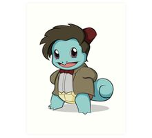 Squirtle Who Art Print