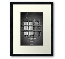 post modern man Framed Print