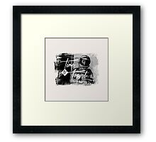 Time to Travel Graphic Design Typograhy Photo Framed Print