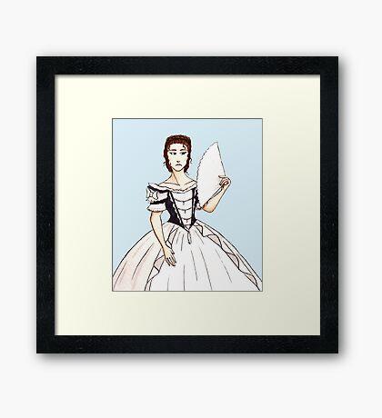 Elisabeth: Coronation Gown Framed Print