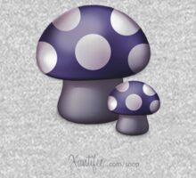 Purple Mushrooms Kids Tee
