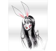 Girl with bunny ears Poster