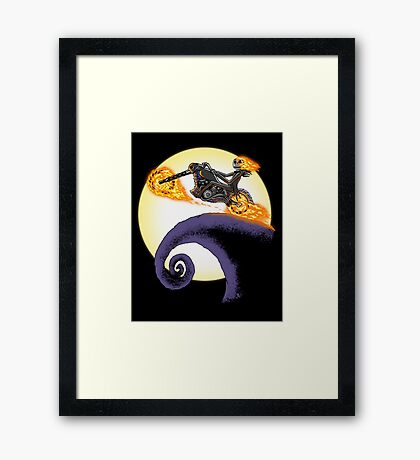 A Ride Before Christmas. Framed Print